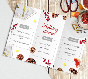 About personalized custom menu cards