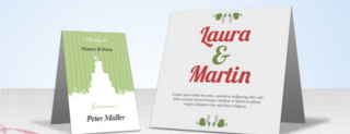 Table place cards printing - name place card online print