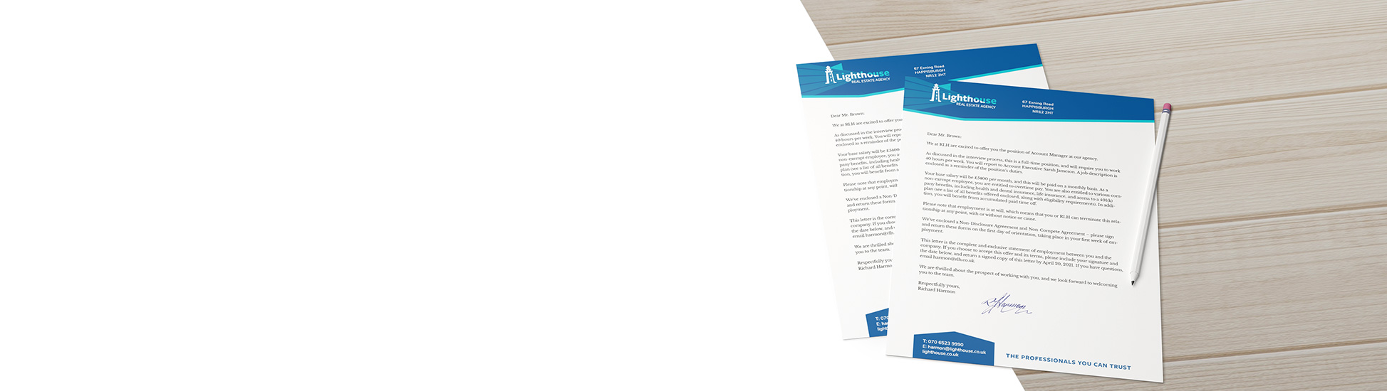 custom letterhead printed calendars from £36.78*
