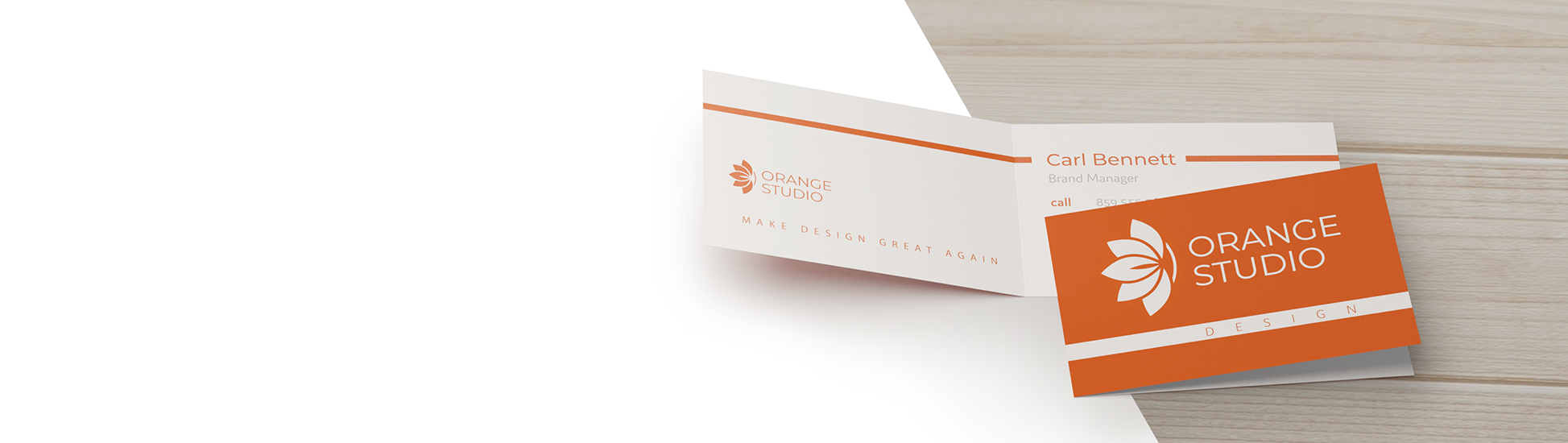 beautiful rich color creative folded business cards