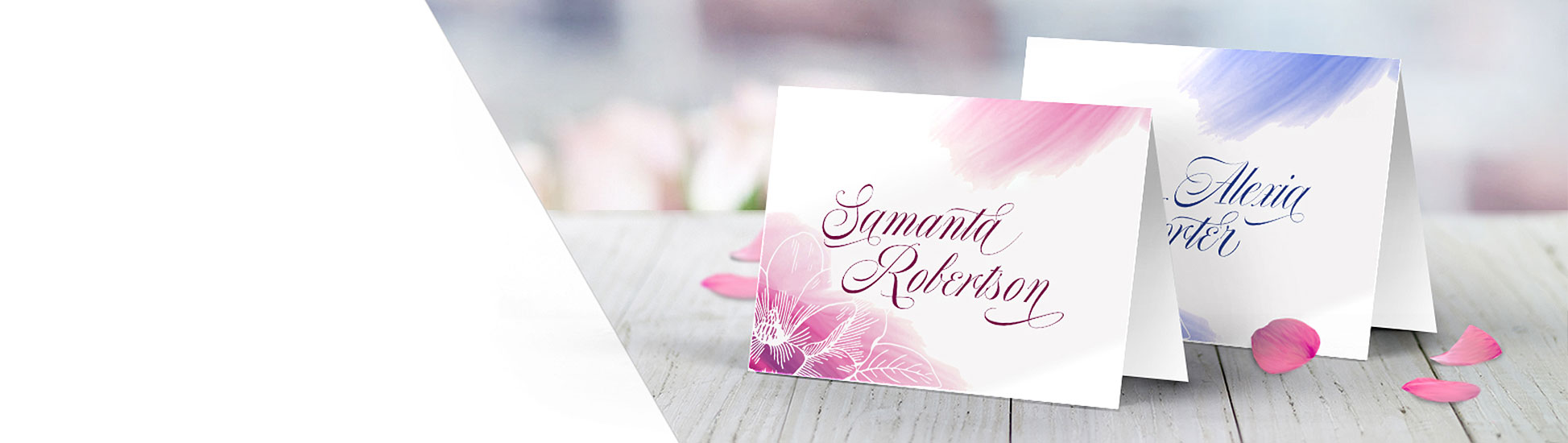 Custom place cards in full color