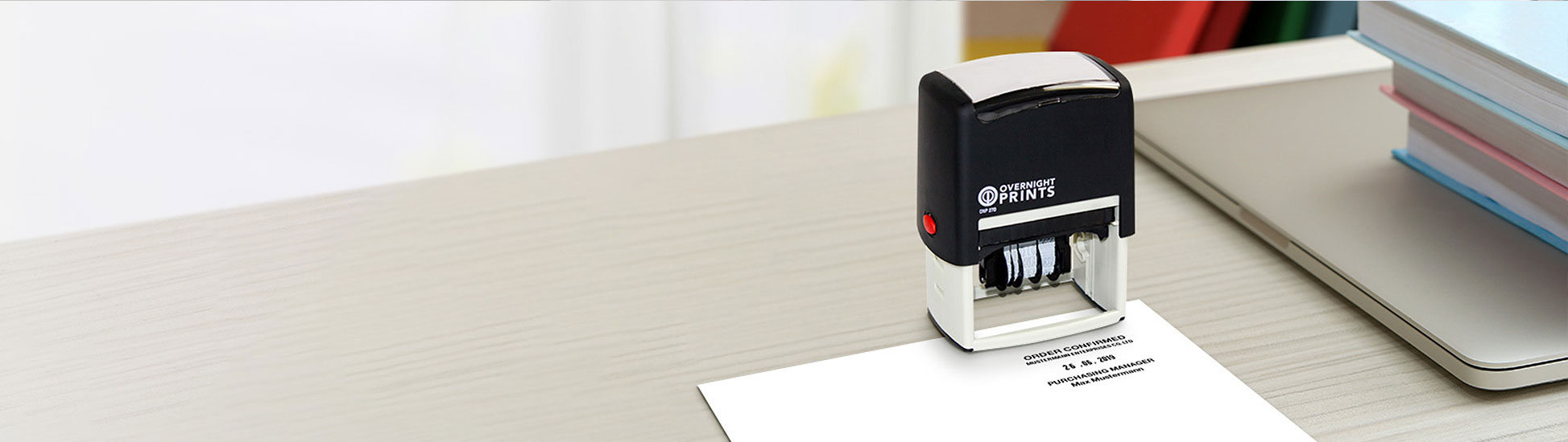 multiple, custom self-inking dater stamps