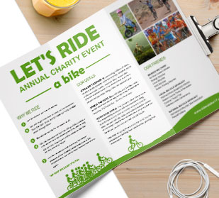 about custom folded leaflet brochure printing